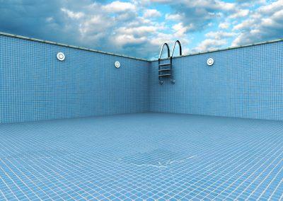 Kein Wasser im Schwimmbecken – aber wir springen trotzdem!?